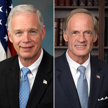 Senators Johnson (left) and Carper (right), who may or may not recognize Mick Mulvaney if they saw him in the Capitol.